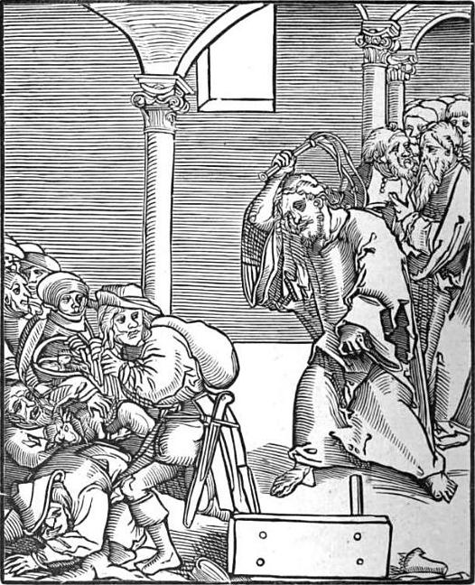 عیسی شلاق میزند و نویسنده امروز زِر