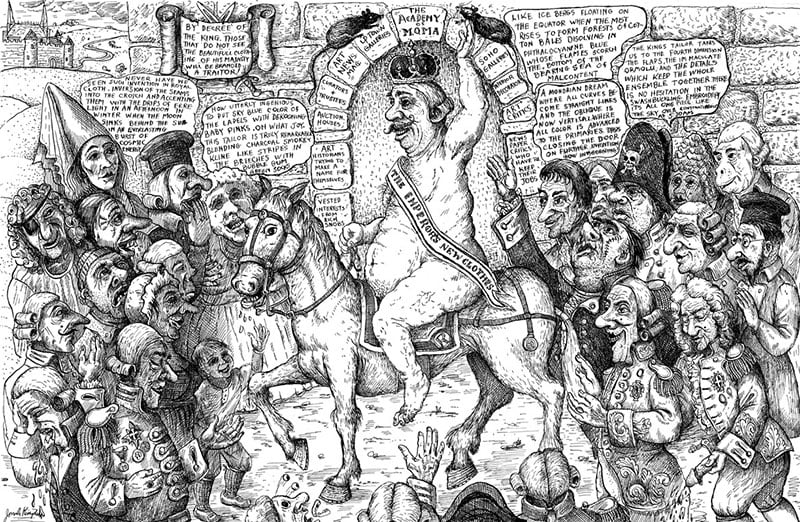 خفقان در حلقه ادبی، یا: پادشاه لخت را ستایش کن