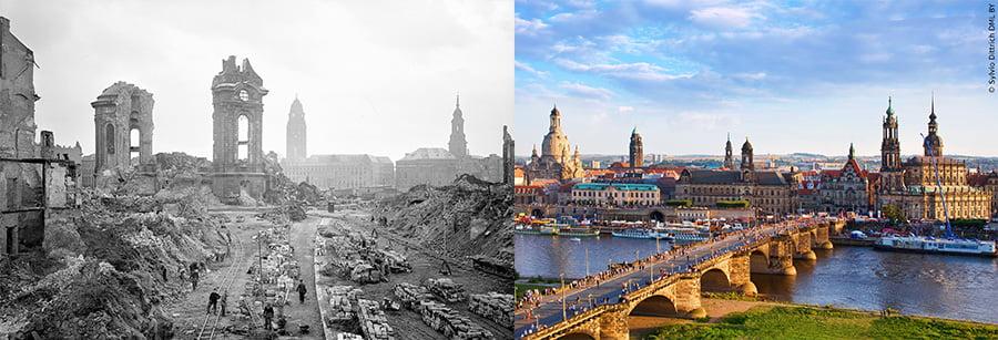 درسدن آلمان در جنگ و بازسازی